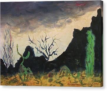 Dark Feeling Canvas Print by Suzanne  Marie Leclair