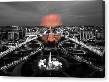 Dark Forces Controlling The City Canvas Print by ISAW Gallery