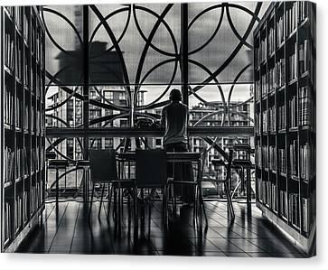 Library Canvas Print - Dark Geometry by Chris Fletcher