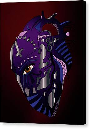 Dark Heart Canvas Print by Kenal Louis