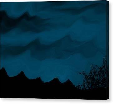 Dark Is The Night Canvas Print