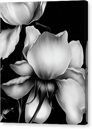 Wall Hanging Canvas Print - Dark Kisses Of The Night Black And White by Georgiana Romanovna