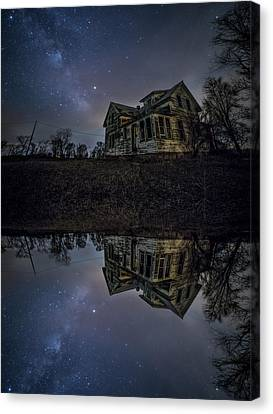 Canvas Print featuring the photograph Dark Mirror by Aaron J Groen
