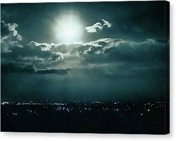 Dark Night Canvas Print by Paul Cristian Panaete