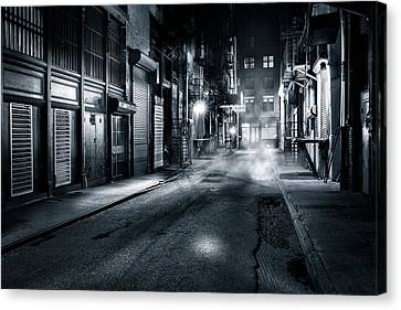 Canvas Print featuring the photograph Dark Nyc by Mihai Andritoiu