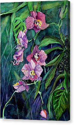 Dark Orchid Canvas Print by Mindy Newman