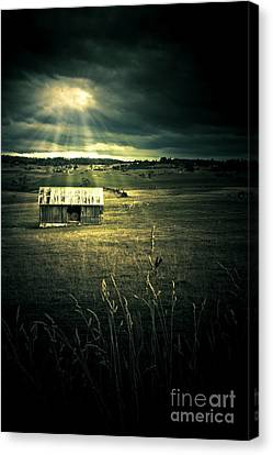 Dark Outback Landscape Canvas Print