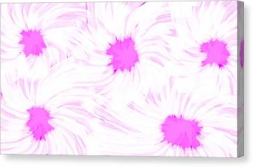 'dark Pink And White Flower Abstract' Canvas Print