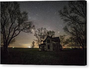 Dark Places On The Prairie  Canvas Print