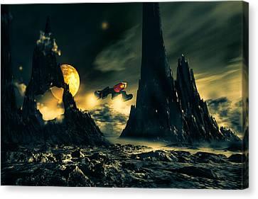 Deep Space Canvas Print - Dark Planet by Bob Orsillo