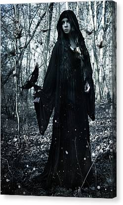 Dark Priestess Canvas Print by Cambion Art
