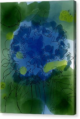 Indian Ink Canvas Print - Dark Purple Hydrangea by Carl Griffasi