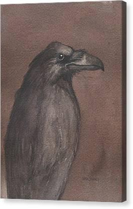 Dark Raven Canvas Print