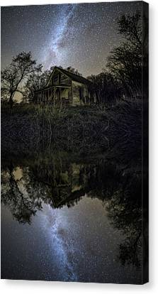 Canvas Print featuring the photograph Dark Reflection by Aaron J Groen