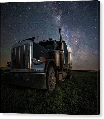 Canvas Print featuring the photograph Dark Rig by Aaron J Groen