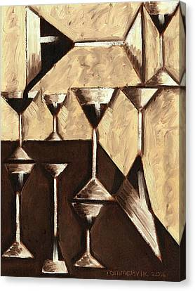 Tommervik Abstract Dark Rum Cocktails Art Print Canvas Print by Tommervik