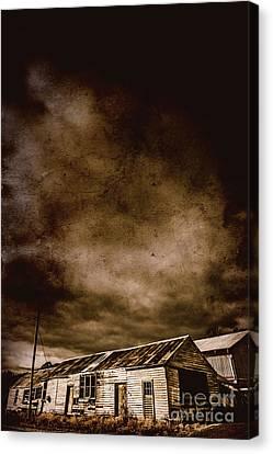 Dark Rural Ruins Canvas Print by Jorgo Photography - Wall Art Gallery