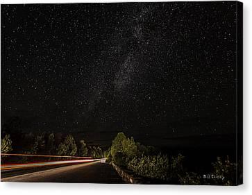 Dark Sky Beam Canvas Print by Bill Cantey