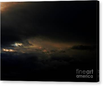 Canvas Print featuring the photograph Dark Sky by Erica Hanel