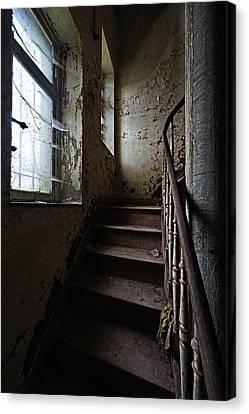 Dark Stairs Haunted House Urban Exploration Canvas Print by Dirk Ercken