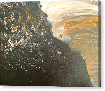 Canvas Print featuring the painting Dark Storm by Barbara Yearty