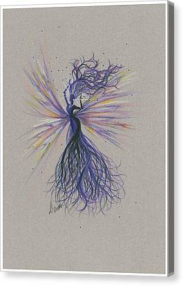 Canvas Print featuring the drawing Dark Streak Strut.. by Dawn Fairies