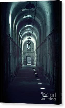 Dark Tunnels Canvas Print by Evelina Kremsdorf