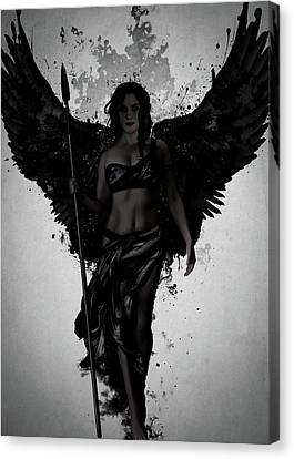 Wings Canvas Print - Dark Valkyrja by Nicklas Gustafsson