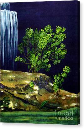 Canvas Print featuring the painting Dark Waters by Patricia Griffin Brett