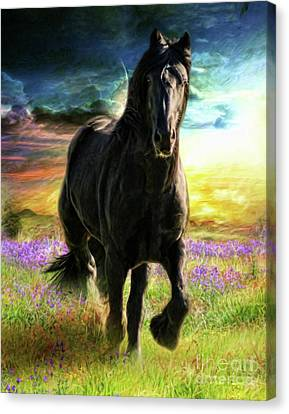 Canvas Print featuring the digital art  Darkness Descending by Trudi Simmonds