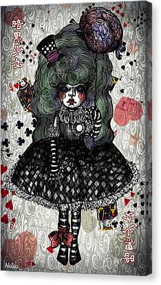 Darkness Girl Canvas Print by Akiko Okabe