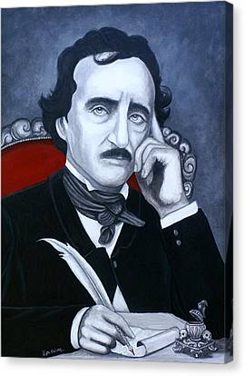 Canvas Print featuring the painting Darkness In The Mind And The Pen by Al  Molina