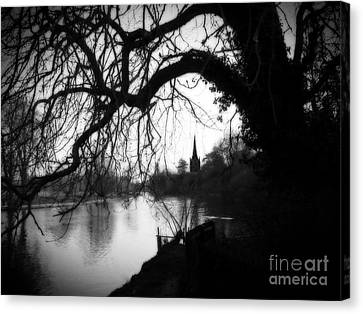 Canvas Print featuring the photograph Darkness Looms Over The Avon by Sue Melvin
