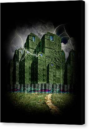 Darkside Of The City Canvas Print by Gravityx9 Designs
