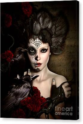 Doll Canvas Print - Darkside Sugar Doll by Shanina Conway