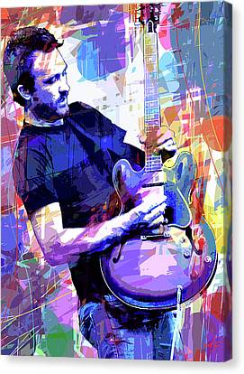 Darren Glover - Blues Note Canvas Print by David Lloyd Glover
