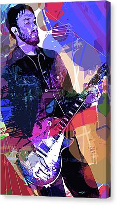 Darren Glover Les Paul Gibson Canvas Print by David Lloyd Glover