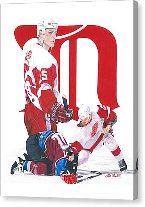 Darren Mccarty Canvas Print by Chris Brown