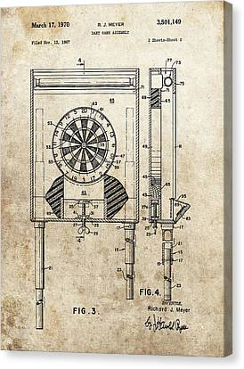Dart Board Game Patent Canvas Print