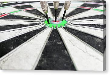 Dartboard Canvas Print by Tom Gowanlock