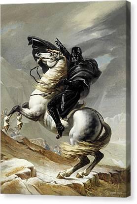 Darth Bonaparte Canvas Print by Andrea Gatti