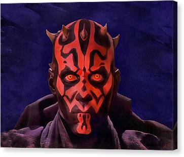 Darth Maul Dark Lord Of The Sith Canvas Print by Sergey Lukashin