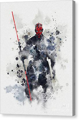Darth Maul Canvas Print by Rebecca Jenkins