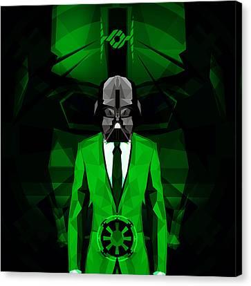 Darth Vader 6 Canvas Print by Gallini Design