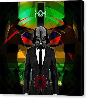 Darth Vader 9 Canvas Print by Gallini Design