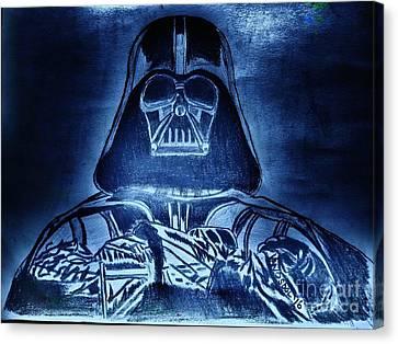Darth Vader Rogue One - Blue Glow Canvas Print by Scott D Van Osdol