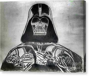 Darth Vader Rogue One - Charcoal Canvas Print by Scott D Van Osdol