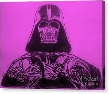 Darth Vader Rogue One - Purple Background Canvas Print by Scott D Van Osdol
