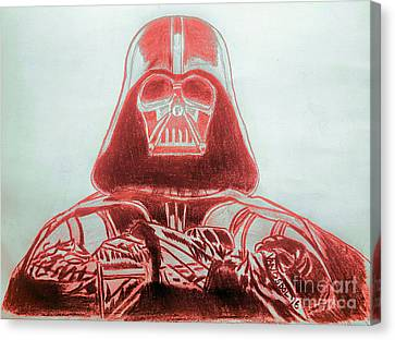Darth Vader Rogue One - Red Canvas Print by Scott D Van Osdol
