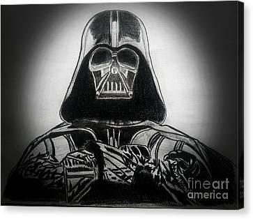 Darth Vader Rogue One - Spotlight Canvas Print by Scott D Van Osdol